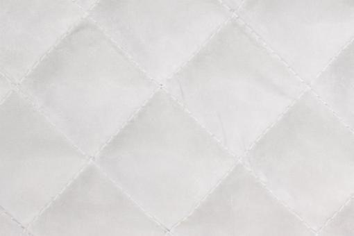 Taft-Watte-Stoff - gesteppt Weiß