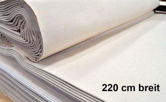 Baumwoll-Stoff - Nessel - 220 cm - 200 g/qm