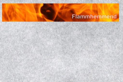 Volumenvlies P120 - flammhemmend - Weiß