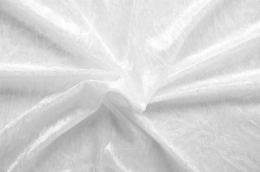 Pannesamt-Stoff - Select Weiß