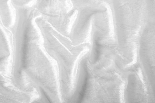 Pannesamt-Stoff - Basic Weiß