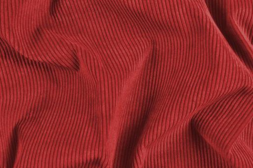 Möbelstoff Cord-Samt - Longlife Ziegelrot