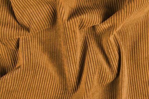 Möbelstoff Cord-Samt - Longlife Hellbraun