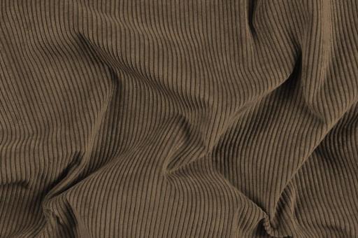 Möbelstoff Cord-Samt - Longlife Braun