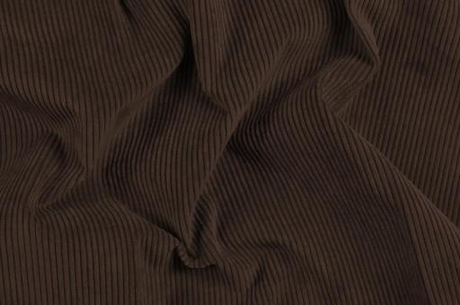 Möbelstoff Cord-Samt - Longlife Dunkelbraun