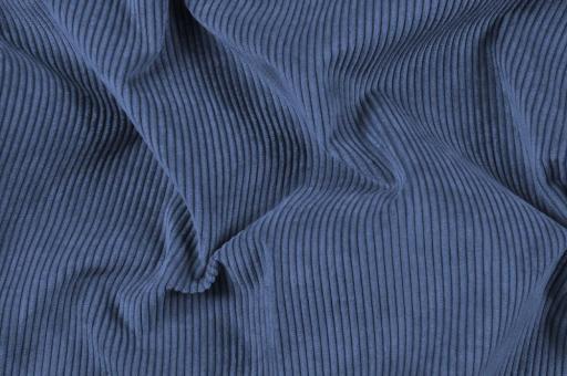 Möbelstoff Cord-Samt - Longlife Blau