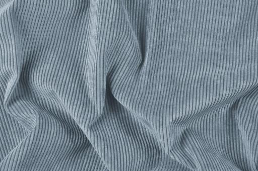 Möbelstoff Cord-Samt - Longlife Taubenblau