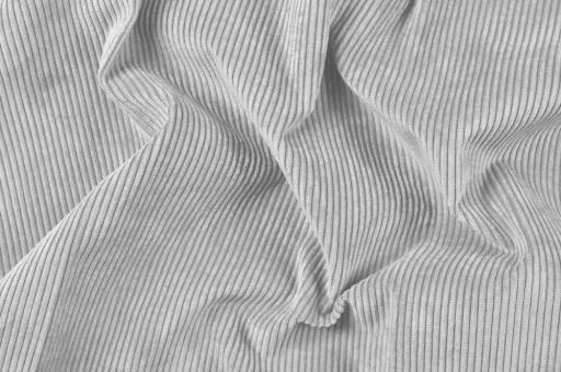 Möbelstoff Cord-Samt - Longlife Silberblau