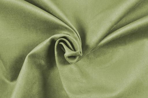 Wildleder-Imitat Polster-Velours - Basic Lindgrün