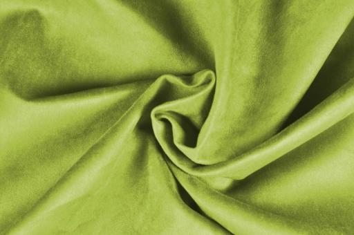 Wildleder-Imitat Polster-Velours - Basic Frühlingsgrün