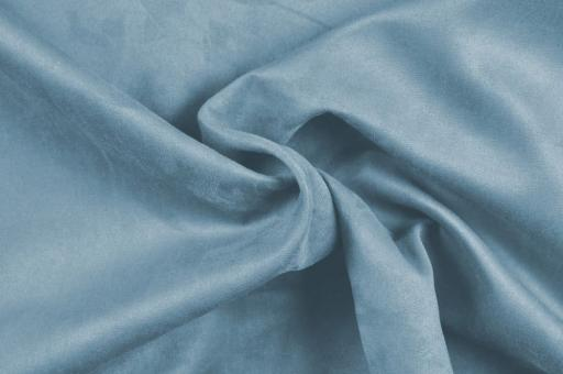 Wildleder-Imitat Polster-Velours - Basic Taubenblau
