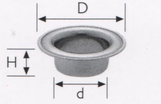 Ösen-Großpackung - Ø 19,5 mm - 100 Stück - Silber