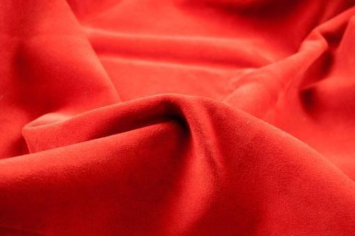 Echtleder Stück Velours -  Rocky Mountain Rot