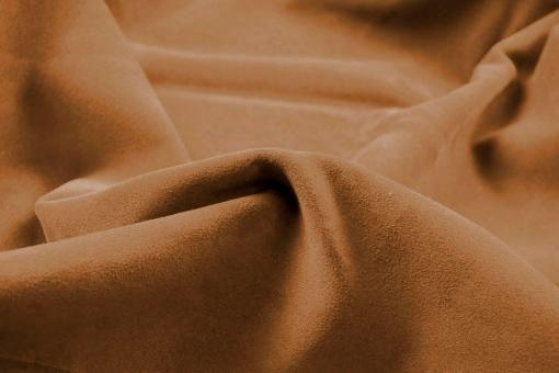 Echtleder Stück Velours -  Rocky Mountain Karamell