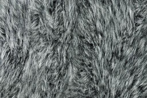 Himalaya Pelz-Imitat - Silber/Schwarz